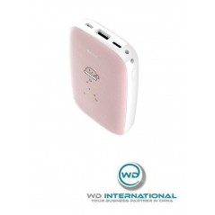 Power Bank Chauffe-Mains Rose Baseus Mini Q 10000mAh USB / Micro USB / Type-C ( PPALL-CXQ04)