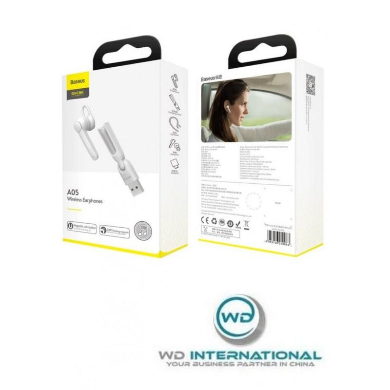 Kit Mains-Libres Bluetooth Blanc Baseus Encok A05 (NGA05-02)