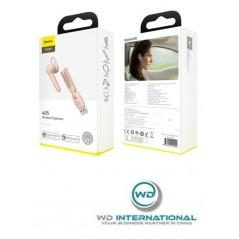 Kit de teléfono manos libres Bluetooth rosa Baseus Encok A05 (NGA05-04)