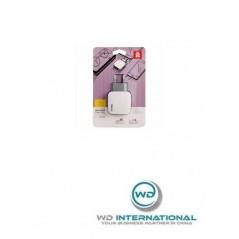 Adaptateur Secteur Blanc Baseus Letour Travel USB x2 2.4A (ZCL2B-B02)