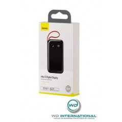 Power Bank Noir Baseus Mini S Digital Display 10000mAh avec Câble Type-C (PPXF-B01)