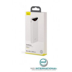 Power Bank Blanc Baseus Gentleman Digital Display 10000mAh USB x2 2.1A (PPLN-A02)