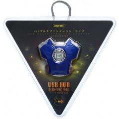 HUB USB Multifonction X3 Bleu Remax RU-U10