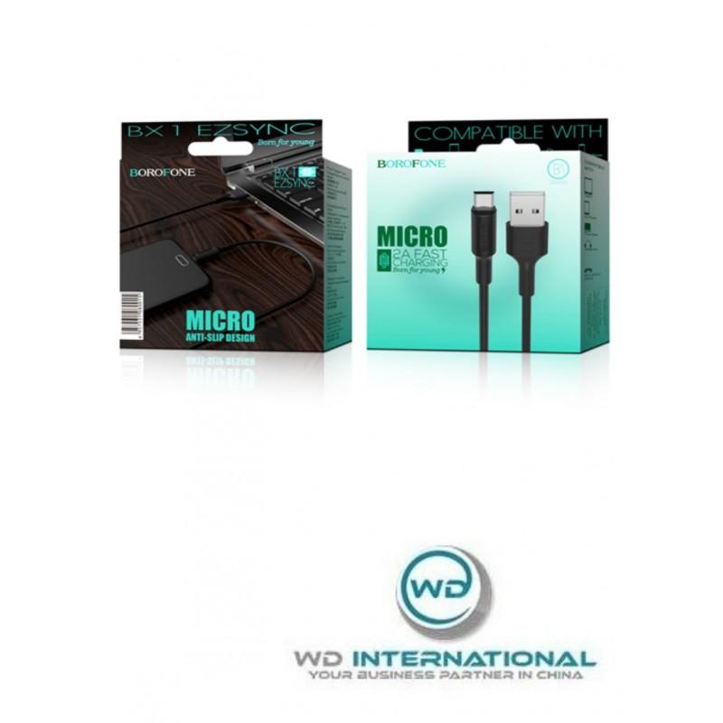 Câble Noir Micro-USB - 1m - Borofone (BX1)