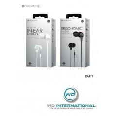 Écouteurs Filaires Blanc Borofone In-Line Control (BM20)