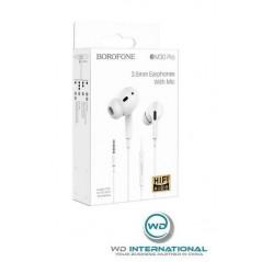 Écouteurs Filaire avec micro Blanc Borofone Original Series (BM30 Pro)