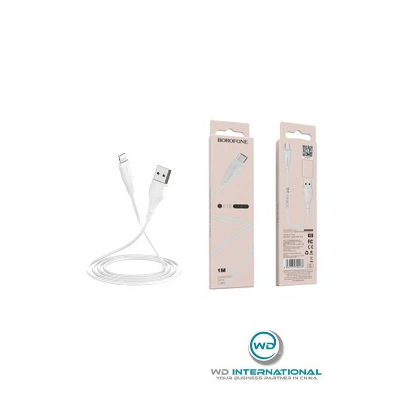 Câble Blanc Micro-USB - 2m - Borofone (BX18)