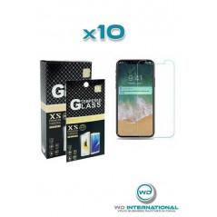 10 cristales templados iPhone X/XS/11 Pro Transparente
