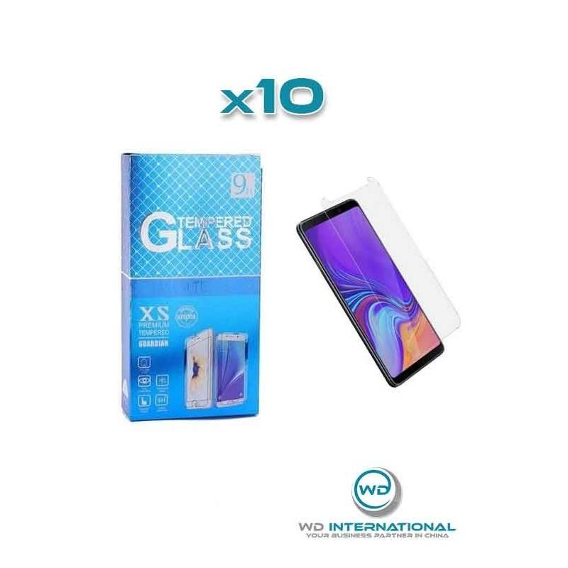 10 Verres Trempés Samsung A9 2018
