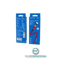 Câble Rouge Micro USB - 1m - Borofone Magnetic (BU16)