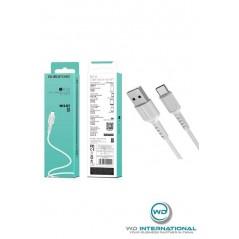 Câble Borofone BX16 Type-C Blanc 1M