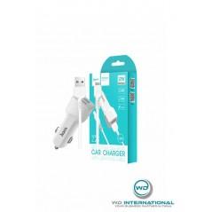Adaptateur secteur + Câble Lightning Hoco Z23 Blanc