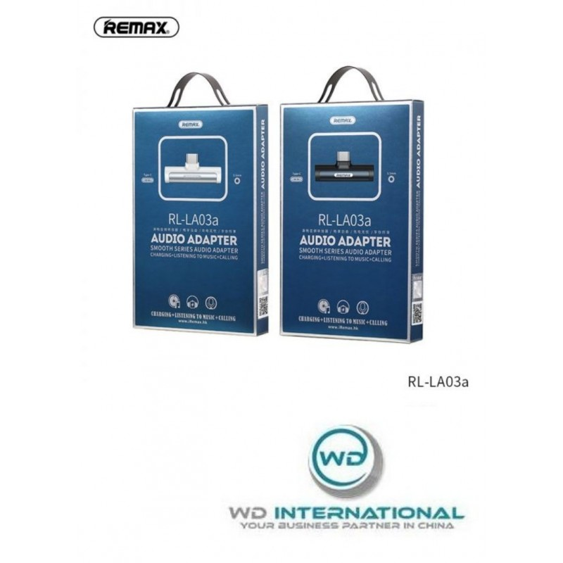Adaptador Remax USB Tipo-C - USB Tipo-C + audio Blanco RL-LA03a