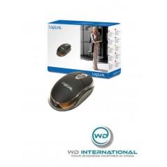 Mini souris optique USB avec LED LogiLink Noire (ID0010)
