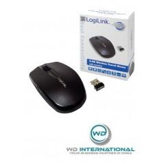 Souris optique LogiLink sans fil 2,4 GHz Noire (ID0114)
