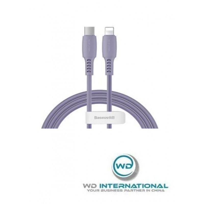 Cable de tipo C a cable de relámpago 1.2M Violeta Baseus Colourful (CATLDC-05)
