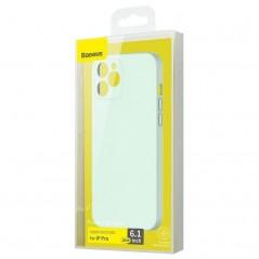 Mintgrüner Rumpf Baseus Liquid Silica Gel iPhone 12 Pro (WIAPIPH61P-YT6B)