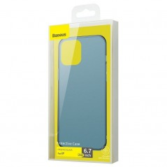 Coque Baseus Frosted Glass iPhone 12 Pro Max Bleu (WIAPIPH67N-WS03)