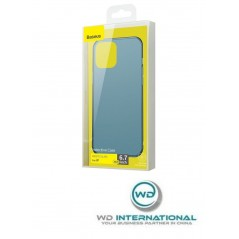 Coque Baseus Frosted Glass iPhone 12 Pro Max Bleue (WIAPIPH67N-WS03)