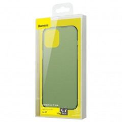 Carcasa verde oscuro Foncé Baseus Frosted Glass iPhone 12 Pro Max (WIAPIPH67N-WS06)