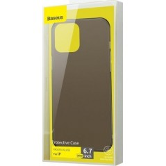 Coque Baseus Frosted Glass iPhone 12 Pro Max Noir (WIAPIPH67N-WS01)