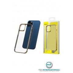 Coque Baseus Shining iPhone 12 Pro Max Transparente et Or (ARAPIPH67N-MD0V)