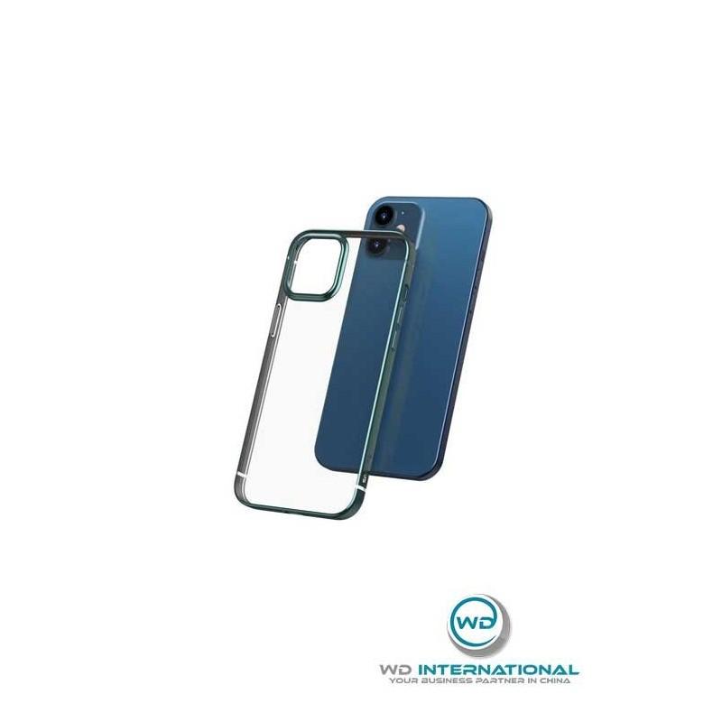 Coque Baseus Shining iPhone 12 Pro Max Transparente et Verte (ARAPIPH67N-MD06)