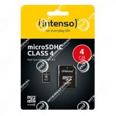 Carte Micro SD Intenso 4Go Class 4