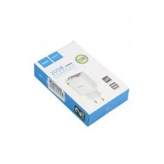 Adaptateur Secteur Hoco C39A LED 2.4A 2XUSB 12W Blanc