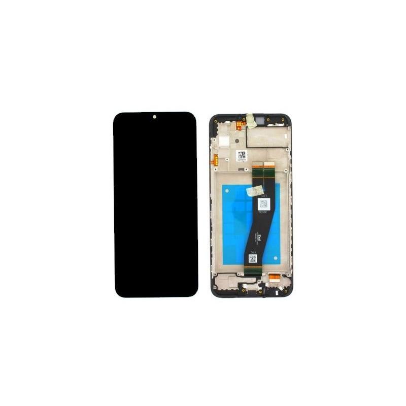 Ecran Samsung Galaxy A02S 2020 Noir Avec Châssis Service Pack