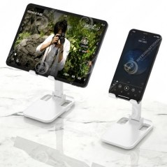 Support de bureau Blanc Dudao pour smartphone