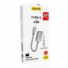 Adaptateur Type C Vers USB 2.0 Gris Dudao L15T