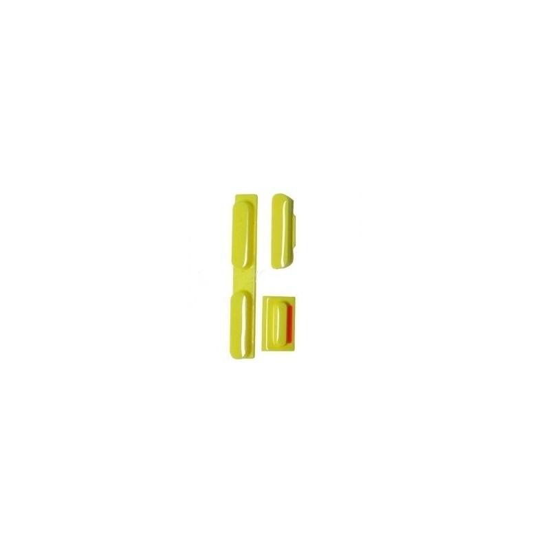 Pack Boutons iPhone 5C Jaune + Tiroir SIM