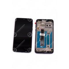 écran avec châssis Motorola One Macro noir origine constructeur