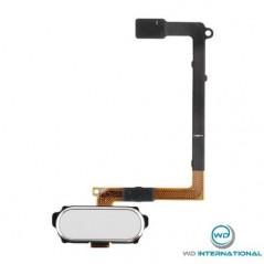 Nappe Bouton home Samsung Galaxy S6 edge blanc
