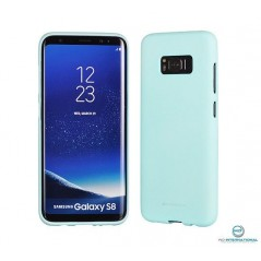 Coque silicone Soft Feeling Samsung S8 Mint (Bleu)