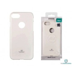 Coque silicone Iphone X Blanc Goospery Jely