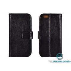 Housse portefeuille en cuir véritable pour Huawei P10