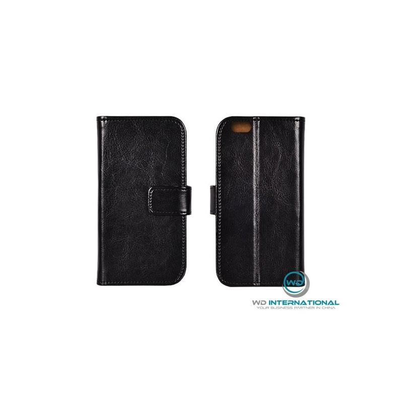 Housse portefeuille Samsung A8 Plus (2018) en cuir véritable Premium
