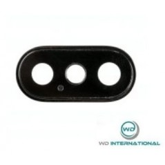 Lentille Caméra Arrière pour iPhone X - Noir